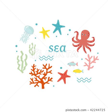 Sea creature set 42244725