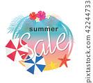 sale, hibiscus, vector 42244733