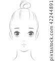 ผู้หญิงที่ทรมานจากการร้องภายใต้ดวงตา 42244891