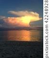 ชายหาด,เมฆ,มหาสมุทร 42248928