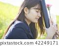高中女生 畢業 畢業生 42249171