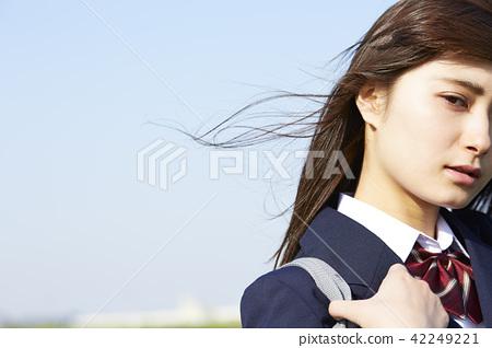 School girls going to school 42249221
