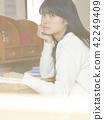 书房 高中女生 学习 42249409