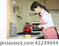 少女 廚房 高中女生 42249444