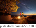 camping, star, tent 42252183