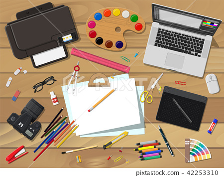 Artists or designer workplace. 42253310