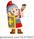 roman soldier blow war horn 42253643
