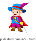 young musketeer with sword 42253645