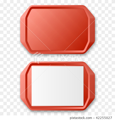 Plastic Tray Salver isolated. Vector illustration. 42255027