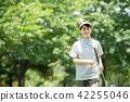 미들 여성 골프 스포츠 이미지 42255046