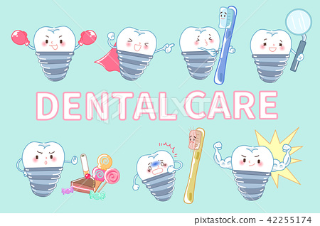 tooth with dental care 42255174