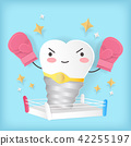 cute cartoon implat tooth 42255197
