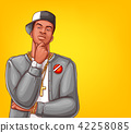 Vector pop art rap, hip-hop male character 42258085