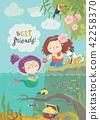 mermaid, girl, ocean 42258370