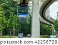 도로 위를 달리는 모노레일의 이미지 42258729