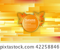 Abstract vector background for autumn concept 42258846