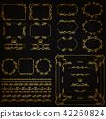 frame, golden, design 42260824