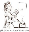 kitchen woman retro 42261340