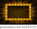 Cinema golden rectangular frame 42261552