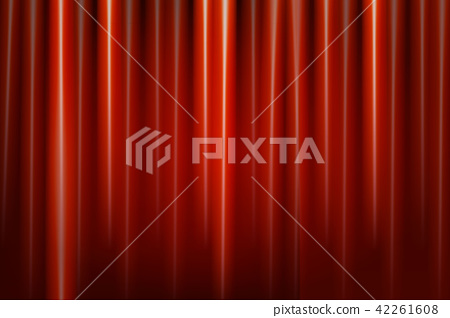 Red theater curtain 42261608