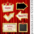 Set of banners in vintage style. 42261836