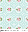 Shabby chic rose seamless pattern background 42263005