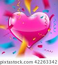 heart, background, confetti 42263342