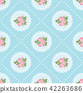 Shabby chic rose seamless pattern background 42263686