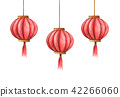 chinese lanterns, Chinese red lights 42266060