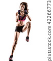 cardio boxing cross core workout fitness exercise aerobics woman 42266773
