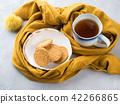 Winter comfort food concept with tea 42266865