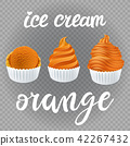 dessert, orange, frozen 42267432