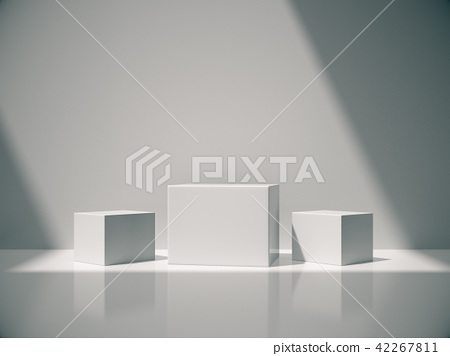 Pedestal for display ,White room and lateral light 42267811