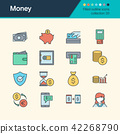Money icons. Filled outline design. 42268790