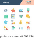 Money icons. Flat design. 42268794