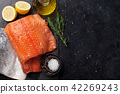 salmon, lemon, pepper 42269243