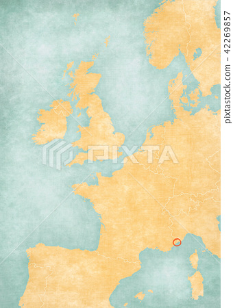 Map of Western Europe - Monaco 42269857