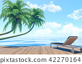 Outdoor living on summer vacation, Seaside terrace 42270164