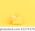 suitcase yellow color 42274370