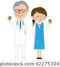 man and woman, doctor, physician 42275304