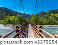 Kamikochi bridge over stream 42275954