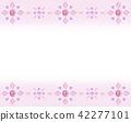 반짝이 핑크 보석 배경 카드 프레임 백 분홍색 42277101