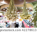 Dry flowers in a store 42278613
