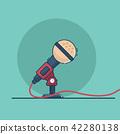microphone vector flat design 42280138