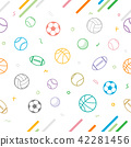 Sport theme seamless pattern background 42281456