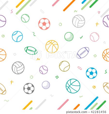 Sport theme seamless pattern background 42281456