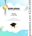certificate, diploma, template 42281466