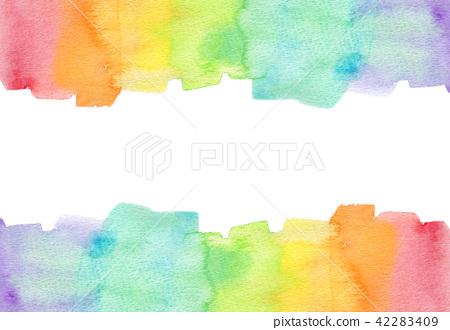 背景材料水彩紋理彩虹 42283409