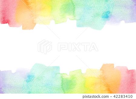背景材料水彩纹理彩虹 42283410