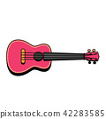 Concert Ukulele - Hawaiian string musical instrument 42283585